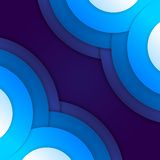 Abstract blue paper circles background Stock Photos