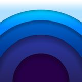 Abstract blue paper circles background Royalty Free Stock Photo