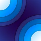 Abstract blue paper circles background Stock Photography