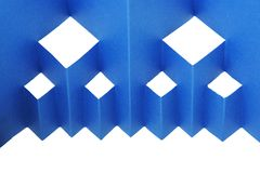 Abstract blue paper composition Royalty Free Stock Photos