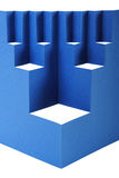 Abstract blue paper composition. With cutout rhombus and zigzag Royalty Free Stock Photo