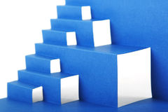 Abstract blue paper composition with stairs Stock Images