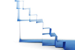 Abstract blue paper composition with stairs Stock Image
