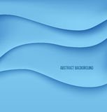 Abstract blue paper layers background shadow Stock Image