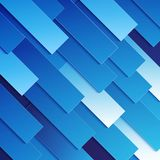 Abstract blue paper rectangle shapes background Stock Photography