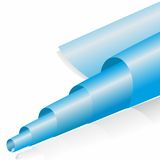 Abstract blue paper roll Royalty Free Stock Photos