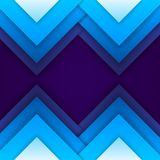 Abstract blue paper triangle shapes background Stock Photo