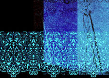 Abstract blue patterns. With black background Royalty Free Stock Photos