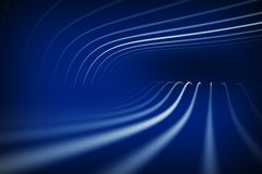 Abstract blue perspective Stock Images