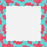 Abstract blue and pink color frame background Royalty Free Stock Photography