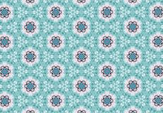 Abstract blue pink flower pattern wallpaper. Stock Images