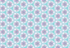 Abstract blue pink flower pattern wallpaper. Royalty Free Stock Images