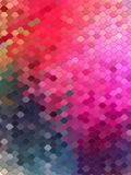 Abstract blue and pink hexagon with pink line Royalty Free Stock Photo