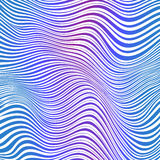 Abstract blue and pink striped waves background Royalty Free Stock Images