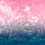 Abstract blue and pink texture with vintage grunge background. Stock Photo