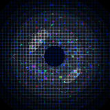 Abstract blue pixeled background in the shape of eye Stock Photos