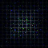 Abstract blue pixeled background in the shape of square Stock Image