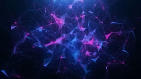 Abstract blue plexus background. Blue-pink abstract background of plexus watch background Stock Photography