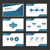 Abstract Blue polygon infographic element and icon presentation templates flat design set for brochure flyer leaflet website. Advertising marketing banner Stock Images