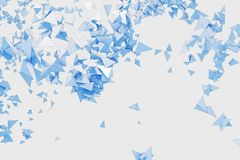 Abstract blue polygonal background. Abstract light blue polygonal background. Art, creativity concept. 3D Rendering vector illustration