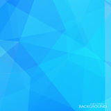 Abstract blue polygonal background with halftone Royalty Free Stock Images