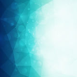 Abstract blue polygonal background with light and bokeh effect. Vector illustration vector illustration