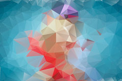 Abstract blue polygonal background. Royalty Free Stock Photography