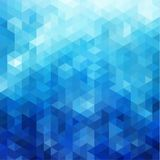 Abstract blue polygonal background with triangular pattern. Abstract blue triangles pattern geometric background Royalty Free Stock Photography