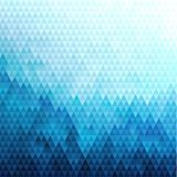 Abstract blue polygonal pattern with triangular texture. Abstract blue triangles pattern geometric background - eps10 vector Stock Image
