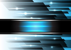 Abstract blue power light speed technology vector. Royalty Free Stock Photography