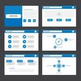 Abstract blue presentation template flat design set for brochure flyer leaflet marketing Royalty Free Stock Photo