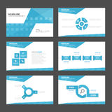 Abstract blue presentation template Infographic elements flat design set for brochure flyer leaflet marketing Stock Image