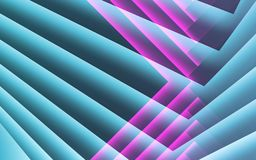 Abstract blue purple cg background, 3 d. Abstract blue purple cg background, geometric pattern of paper corners. 3d illustration stock illustration