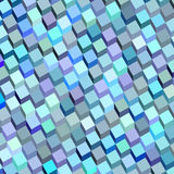 Abstract blue purple cube pattern Stock Photo