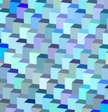 Abstract blue purple cube pattern Royalty Free Stock Photos
