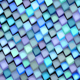 Abstract blue purple cube pattern Royalty Free Stock Photography