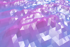 Abstract blue and purple 3d low poly surface background Royalty Free Stock Photo
