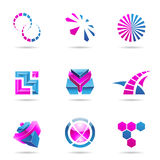 Abstract blue and purple Icon Set 21 Royalty Free Stock Photography