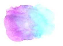 Abstract blue purple watercolor on white background Stock Images