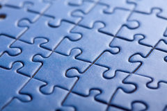 Abstract blue puzzle background Stock Image
