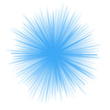 Abstract blue radial shape Royalty Free Stock Photography
