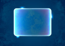 Abstract blue rectangle placeholder. Abstract blue textured rectangle with lights and sparkles vector illustration