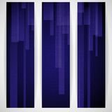 Abstract Blue Rectangle Shapes Banner. Royalty Free Stock Photography