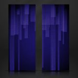 Abstract Blue Rectangle Shapes Banner. Royalty Free Stock Images