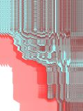 Abstract blue and red Digital screen with  flowing computer windows royalty free illustration