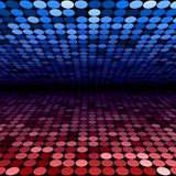 Abstract blue and red disco circles background Royalty Free Stock Images
