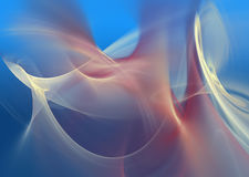 Abstract Blue Red Flames Stock Image
