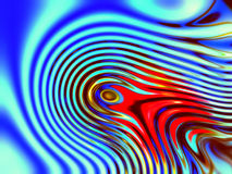 Abstract blue, red and gold illustration 1 Stock Images
