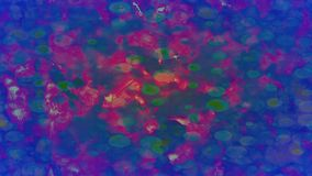 Abstract blue red orange green stained pattern Stock Images