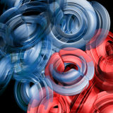 Abstract blue and red shapes Stock Image